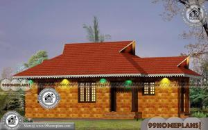 House Plans With Stone Single Story Traditional Home Oodu Veedukal