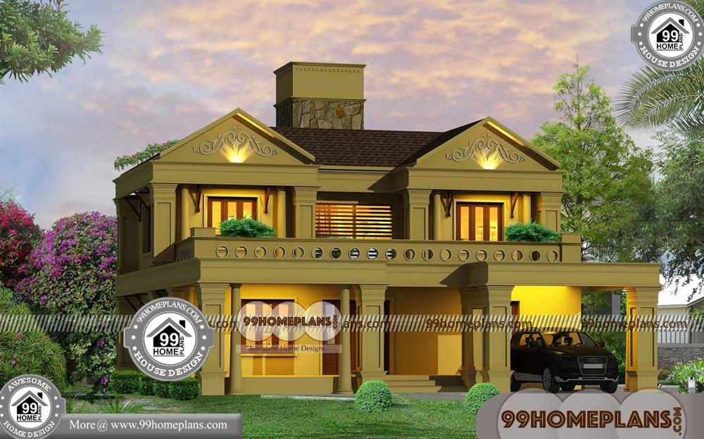Indian bungalow house designs with two story modern home for Modern house design collection
