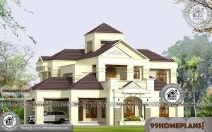 Indian Bungalow House Plans with Double Story Huge Gorgeous Designs