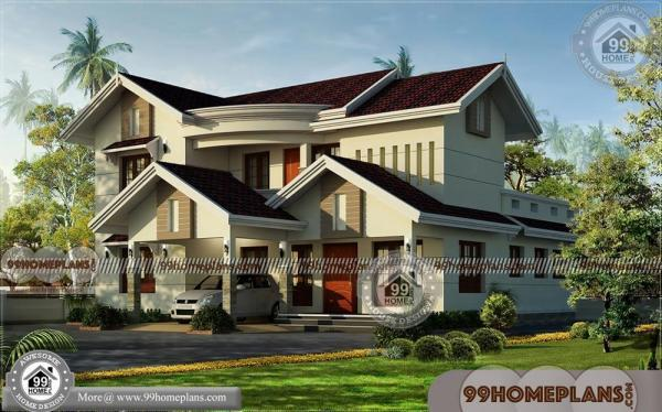 Indian Home Design Floor Plans | Two Storey Traditional House Designs