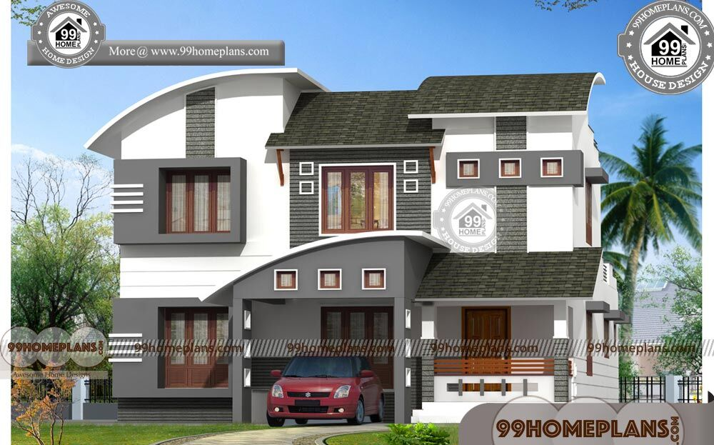 Indian Home Image Two Story Contemporary House 3d