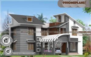 Indian House Front Design | Double Storied Contemporary Style Homes