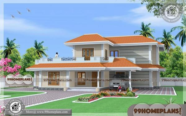 Simple House Front Elevation Designs For Double Floor : Indian house front elevation photos two story simple