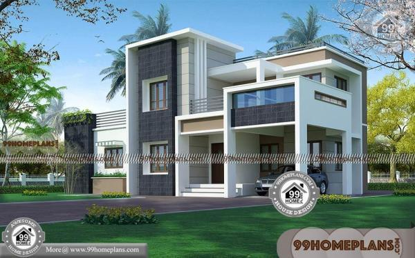 Indian Modern House Plans And Elevations Double Story Box Type Home