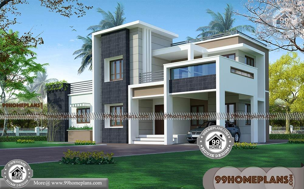 Indian Modern House Plans And Elevations Double Story