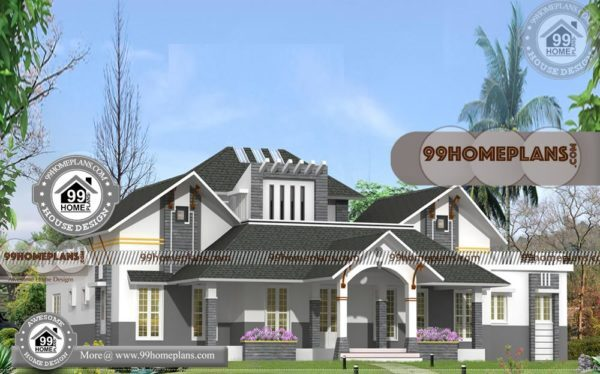 Indian Small House Design With Double Story Traditional Style