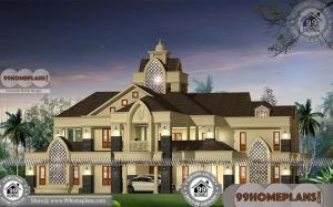 Indian Style Bungalow Designs | Two Story Luxurious Modern Home Plans