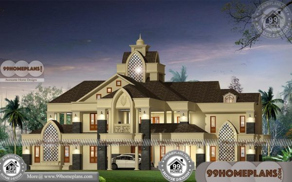 Indian Style Bungalow Designs Two Story Luxurious Modern