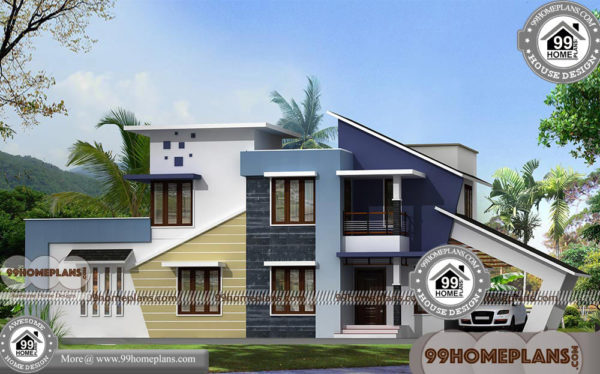 kerala contemporary home plans double floor modern house designs