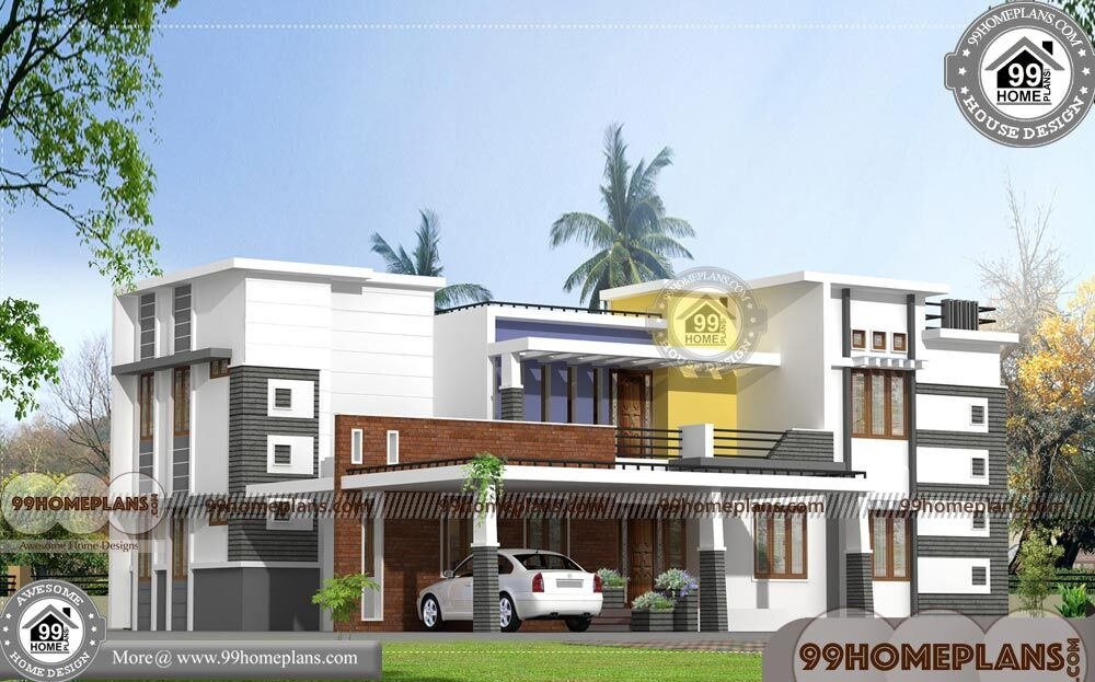 Kerala House Design | 1000+ Modern Two Story Fusion Style Home Plans