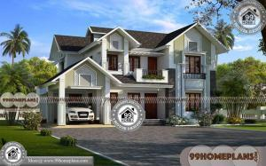 Kerala House Plans With Estimate | Double Story Traditional Home Plans