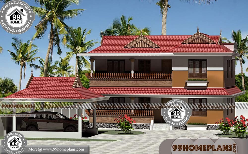 Kerala Illam House Plans With Nadumuttam Traditional Old Style Homes