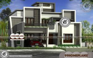 Kerala Modern Home Designs | Two Floor Flat Roof Contemporary Plans