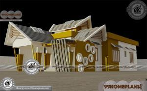 Kerala Single Floor House Plans With Photos | Low Cost Modern Designs