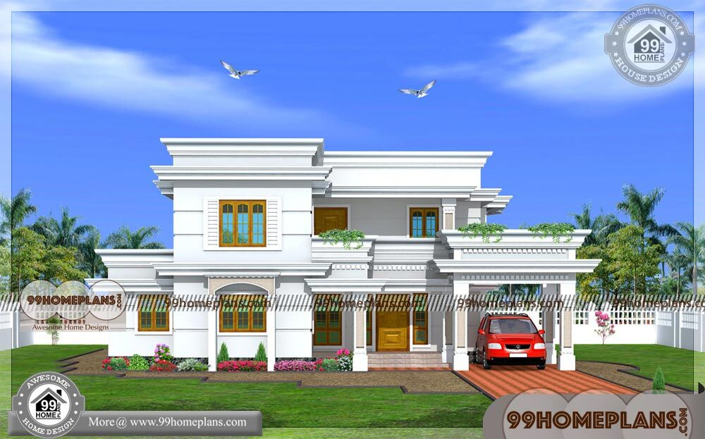 Kerala Style Home Plans And Elevations With Duplex House