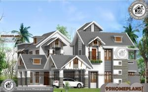Kerala Style House Plans | Two Story Contemporary Luxury Home Designs