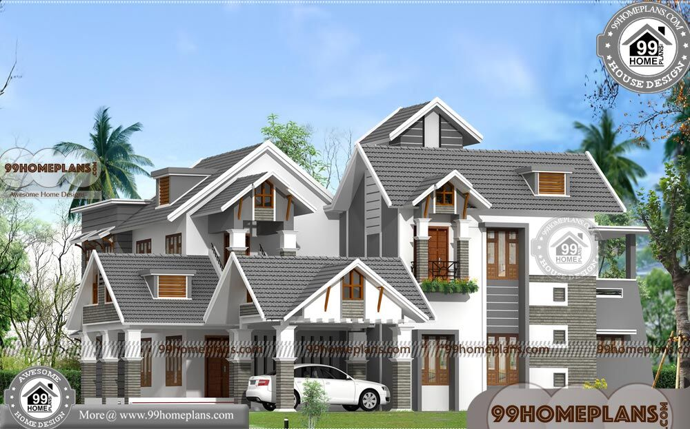 Kerala style house plans two story contemporary luxury for 2 story luxury house plans