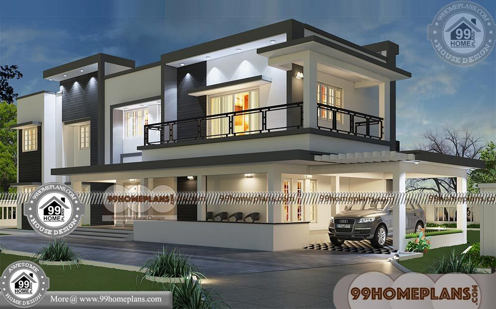 Luxury bungalow plans with double story modern home for Luxury bungalow designs
