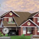 Manorama Veedu Plans with Double Story Traditional Sloping Roof Design