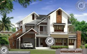 Modern 2 Story House with Contemporary Patterned Stylish Collections