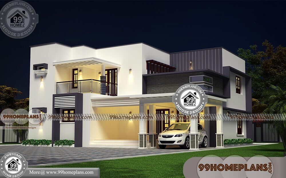 Modern Box Type House With 3d Elevations Low Budget
