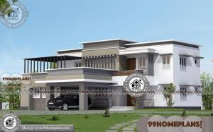Modern Bungalow House Design with Double Storied Superb Collections