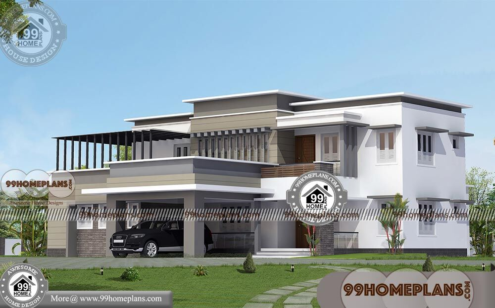 Modern Bungalow House Design with Double Storied