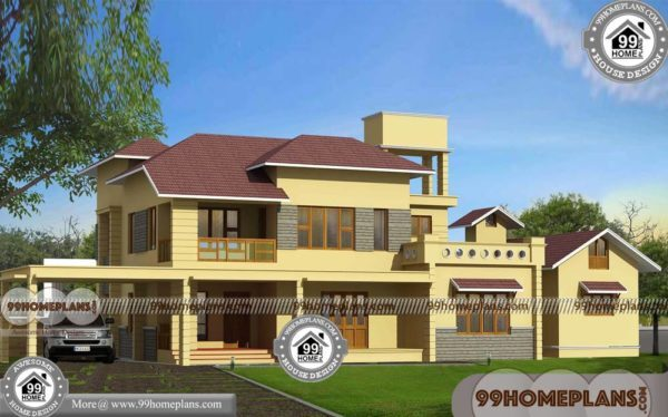 Modern Bungalow Plans with 3D Elevations | Small House Designs Ideas