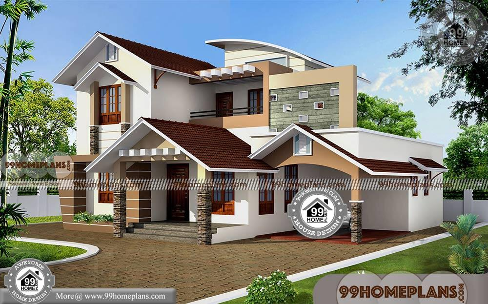 Modern Double Storey House Low Budget Contemporary Home Designs