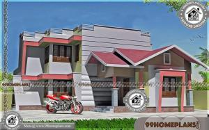 Modern Elevation Designs with Exterior & Interior Plans of Two Floor Home