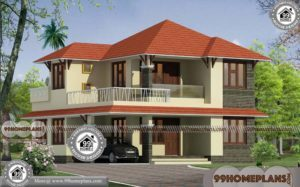 Modern Home Elevation Design with Double Story Traditional Style House