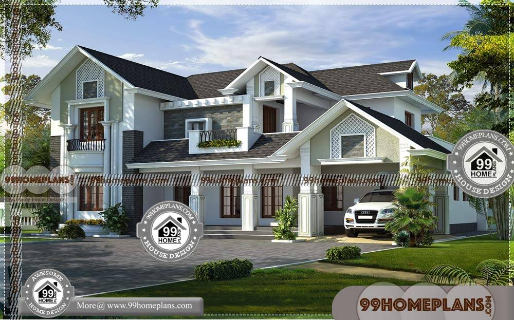 Modern House Design Drawing | Two Story Traditional Home ...