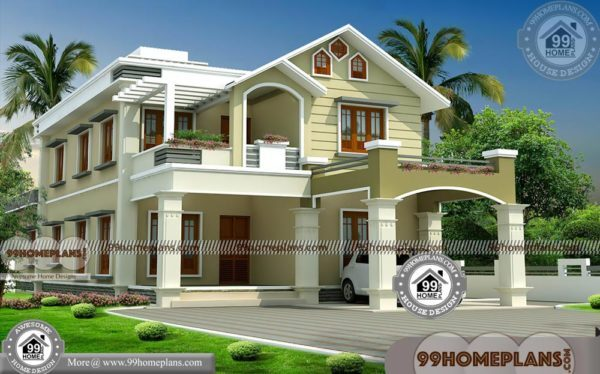 modern house designs in kerala with double story fusion style homes