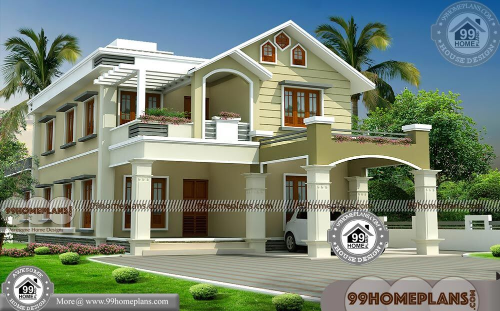 Modern house designs in kerala with double story fusion for Modern house in kerala