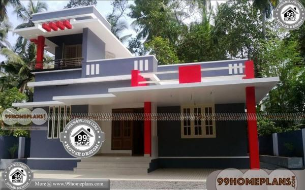 Modern House Front Elevation with Double Story Narrow Lot Home Design