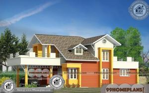 Modern House Plan And Elevation with Double Story Contemporary Types