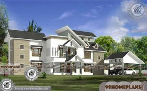 Modern House Two Storey with Garage | Free Home Floor Plan Designs