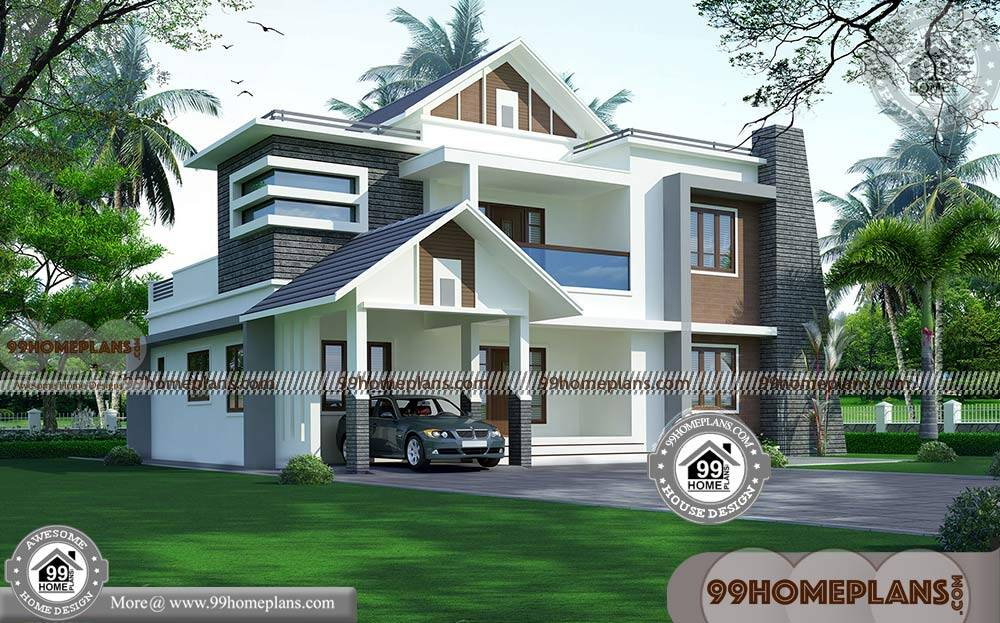 Modern Indian House Design with 3D Elevations | 2 Floor ...