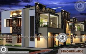 Modern Long House Plans | Two Floored Best Rectangular Home Designs