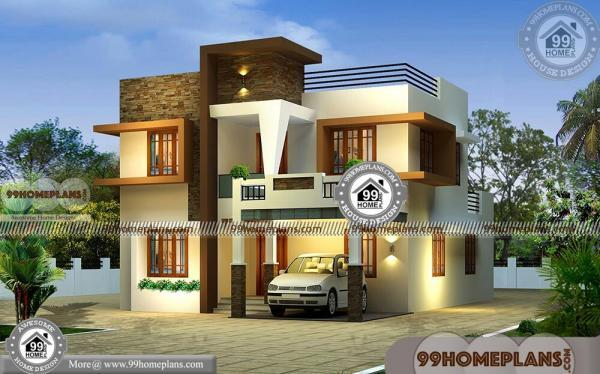 Modern Narrow Lot House Plans | Box Type Cost Effective Plan Collection