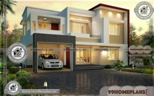 Modern Residential House Plans | Two Story Contemporary Style Homes