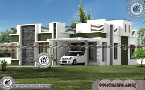modern single story house plans best 3d elevation design pictures 600x374