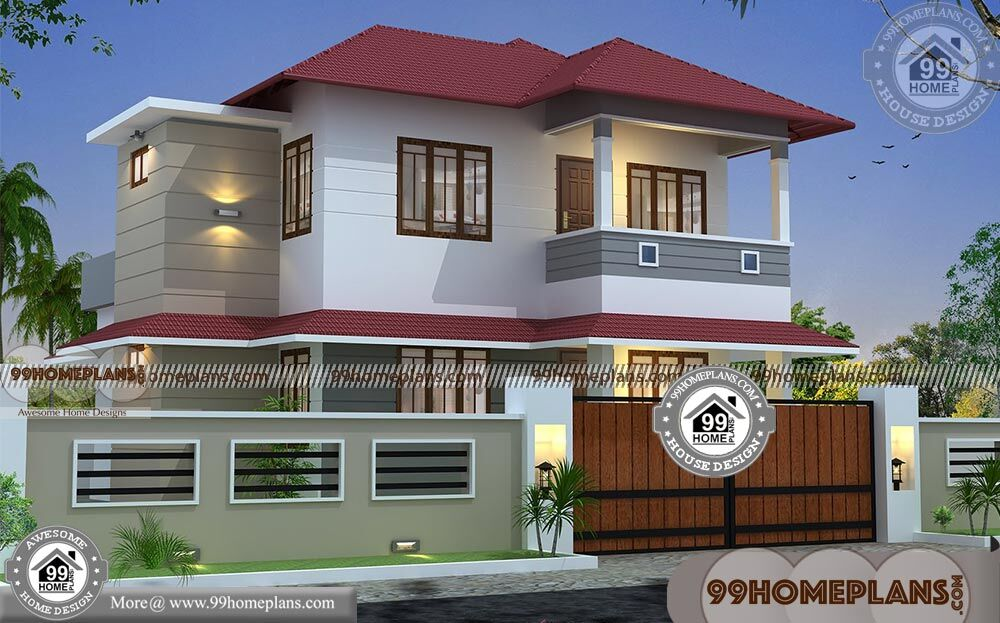 Modern small house design with two level traditional home for Modern house design collection