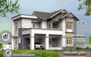 Modern Style Homes Design with Double Story Fusion Style Collections