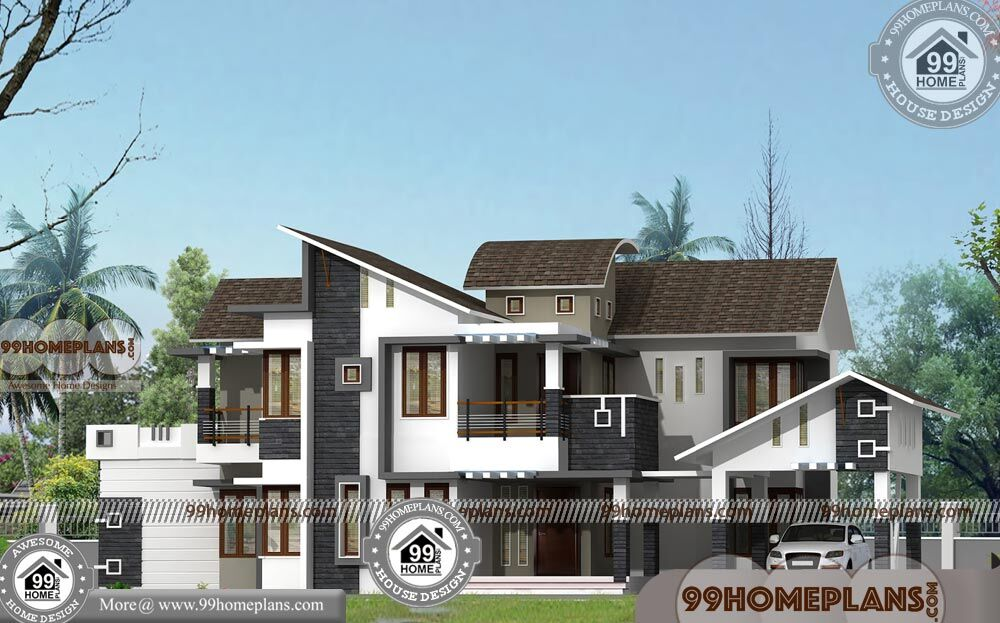 New House Plans With 3d Elevations Double Floor Modern