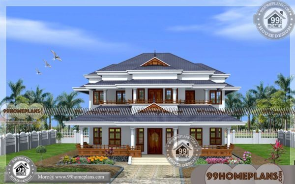 New Model House In Kerala Two Story Traditional Home Floor Plans Free