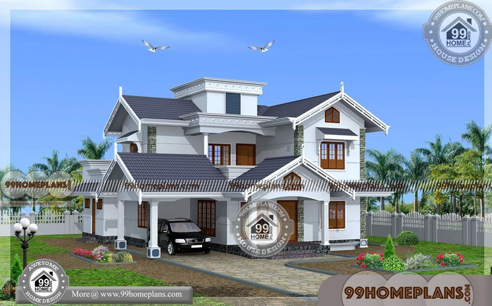 New model house plan in kerala two story traditional for New model house plan