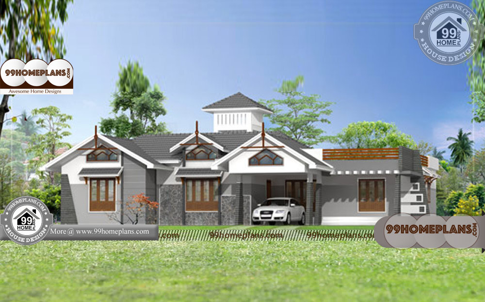 One Story Luxury House Plans   30+ Low Budget House Models & Plans