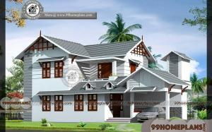 Simple Home Design | Best Two Story Traditional House Plans - 1839 sq ft
