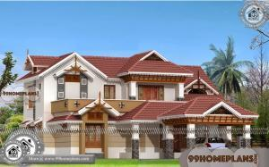 Simple House Plans | Double Storey Traditional Kerala Home Collections